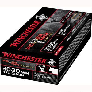 Winchester Power Max .30-30 Winchester Ammunition 200 Rounds Bonded HP 170 Grains X30303BP