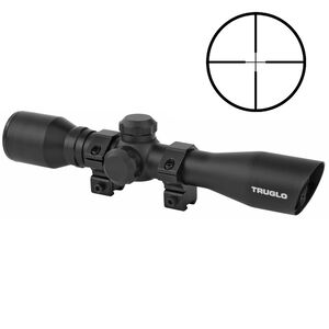 TRUGLO 4x32 Rimfire Riflescope w/ Duplex Reticle & Rings, Matte Black
