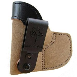 DeSantis Pocket Tuk Inside the Waistband Holster For GLOCK 26/S&W M&P-C Left Hand Leather Natural 111NBE1Z0