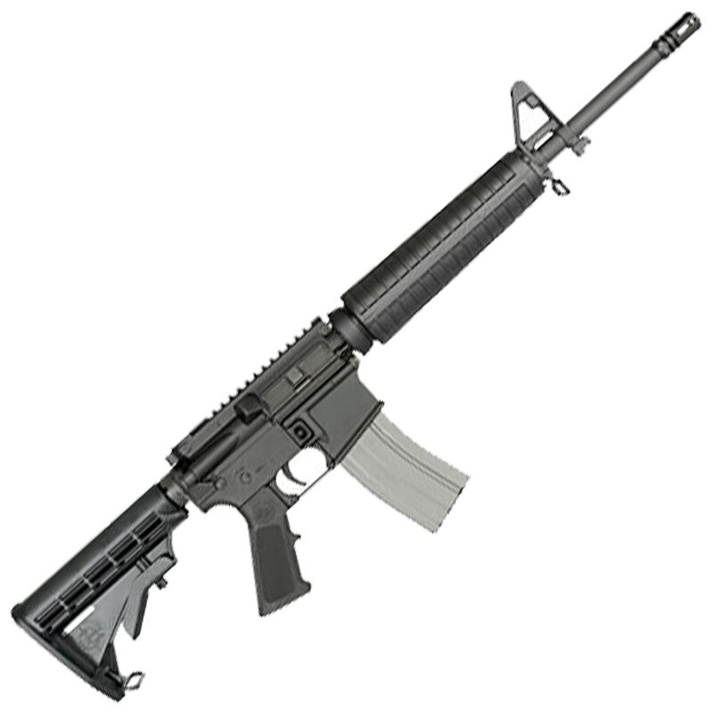 """Rock River Arms Mid-Length A4 6.8 SPC AR-15 Semi-Auto Rifle 16"""" Barrel 25 Rounds A2 Front Sight Adjustable Stock Black Finish"""