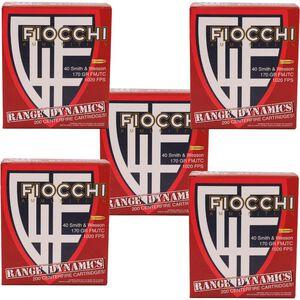Fiocchi Range Dynamics .40 S&W Ammunition 1000 Rounds 170 Grain Full Metal Jacket Truncated Cone 1020fps