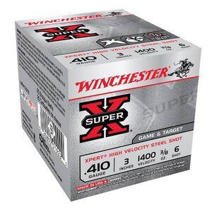 "Winchester Super X Expert .410 Bore Ammunition 25 Rounds 3"" #6 Steel 0.375 Ounce WE413GT6"