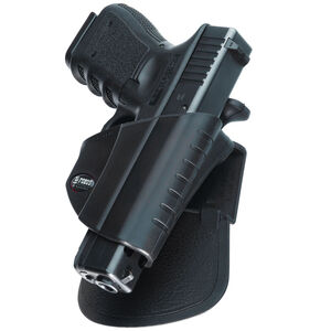 Fobus Thumb Lever Holster Glock 17,19,22,23 Right Hand Roto-Belt/Roto-Paddle Attachment Polymer Black