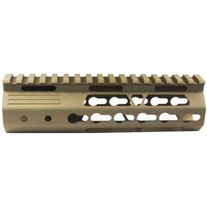 "JE Machine AR-15 7"" KeyMod Style Free Float Handguard with Rail Relief Cutouts Aluminum Tan"