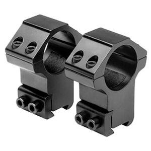 "NcSTAR 1"" Dovetail Rings Weaver Style 3/8"" Dovetail Rimfire Aluminum Black Pair"