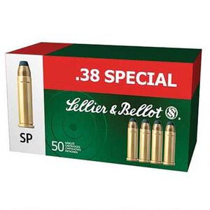 Sellier & Bellot .38 Special Ammunition 50 Rounds SP 158 Grains SB38C