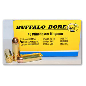Buffalo Bore .45 Winchester Magnum Ammunition 20 Rounds FMJ 230 Grain 45WM230 FMJ/20
