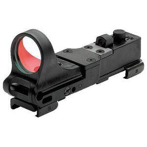 C-MORE Railway Standard Red Dot Sight 4 MOA Weaver Picatinny Mount Polymer Black RWB-4