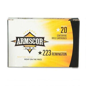 Armscor USA .223 Remington Ammunition 1000 Rounds Hornady V-Max 55 Grains F AC 223-5N