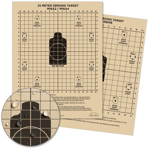 """Rite in the Rain All-Weather Zeroing Targets Sight-In Rifle 8.5"""" x 11"""" 100 Per Pack Tan"""