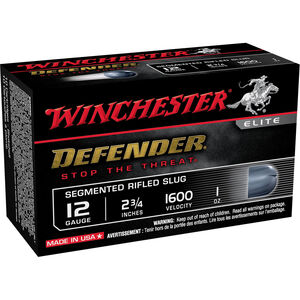 "Winchester PDX1 Shotshell 12 Gauge 2 3/4"" 1oz Segmenting Slug 10 Rounds 1600 fps"