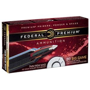 Federal Premium Nosler 7mm Rem Mag Ammunition 20 Rounds 160 Grain Nosler Accubond 2900fps