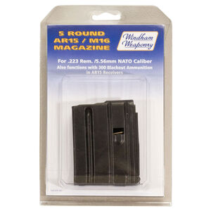 Windham Weaponry AR-15 Magazine .223 Remington/5.56 NATO 5 Rounds 6061 T6 Aluminum Box Teflon Coated Black