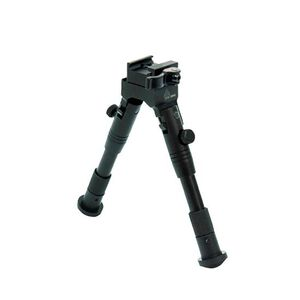 "Leapers UTG New Gen Med Pro Shooters Bipod Quick Detach 6.2""-6.7"" Black TL-BP28SQ"