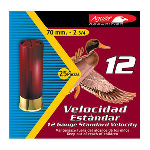 "Aguila Standard Velocity Field 12 Gauge Shotshells 2-3/4"" Length #7.5 Lead Shot 1-1/8 Ounce 1200fps"