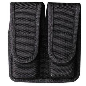 "Bianchi Model 7302 AccuMold Double Magazine Pouch Colt Government .380/Walther PPK/PPKS 2.25"" Belt Loops Hidden Snap Closure Black 18470"