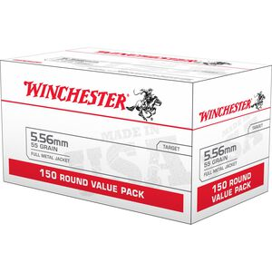 Winchester Lake City 5.56 NATO Ammunition 150 Rounds FMJ 55 Grains