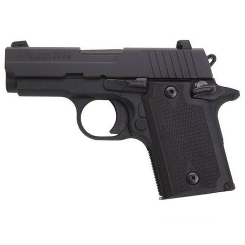 """SIG Sauer P938 Semi Automatic Pistol 9mm Luger 3"""" Barrel 6 Rounds Alloy Frame Rubber Grip Panels Nitron Finish Night Sights 938-9-BSS-AMBI"""