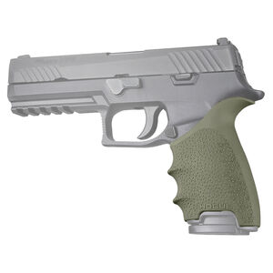 Hogue HandAll Beavertail Grip Sleeve Fits SIG Sauer P320 Full Sized OD Green