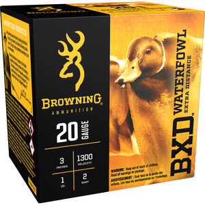 "Browning 20 Gauge Ammunition 25 Rounds 3"" 1 oz. #2 Shot"