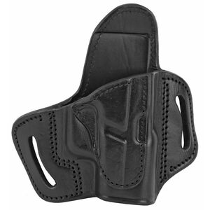Tagua Gunleather Standoff TX-BH2 OWB Holster Fits GLOCK 43 Models Right Hand Draw Open Top Leather Black