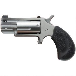 """North American Arms Pug .22 WMR Mini Revolver 5 Rounds 1"""" Ported Barrel White Dot Sight Rubber Grips Stainless Finish"""
