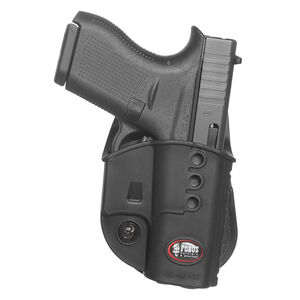 Fobus Evolution Holster For GLOCK 42/Kimber Micro 9 Right Hand Paddle Attachment Polymer Black