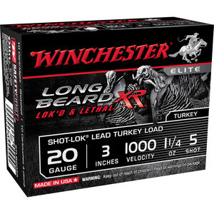 "Winchester Long Beard XR 20 Gauge Ammunition 10 Rounds 3"" #5 Plated Lead 1.25 Ounce STLB2035"
