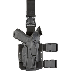 Safariland 7TS 7305 GLOCK 17, 22 ALS/SLS Level III Tactical Holster with Quick Release Right Hand STX Plain Black