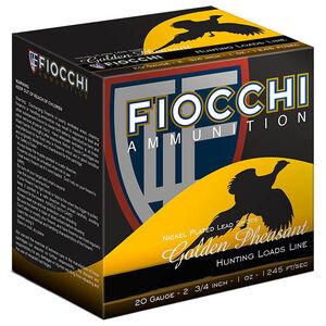 "Fiocchi Golden Pheasant 20 Gauge Ammunition 250 Rounds 2-3/4"" #7.5 Shot 1oz Nickel Plated Lead 1245fps"