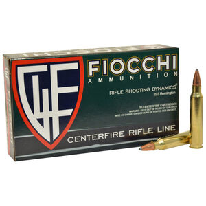 Fiocchi Rifle Shooting Dynamics .223 Rem Ammunition 50 Rounds 55 Grain Hornady Interlock BT Bullet 3