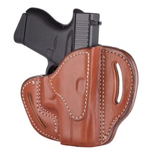 1791 Gunleather Open Top Multi-Fit OWB Belt Holster for Sub Compact Semi Auto Models Right Hand Draw Leather Classic Brown