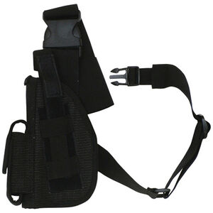 "Fox Outdoor SAS Tactical Leg Holster 4"" Left Hand Nylon Black 58-015"