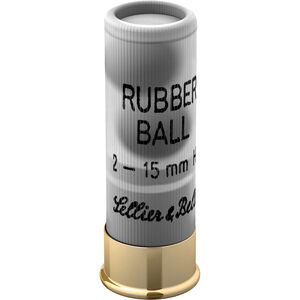 Sellier & Bellot 12 Gauge Ammunition 25 Rounds 2 Rubber Spherical Balls 919fps Pest Control