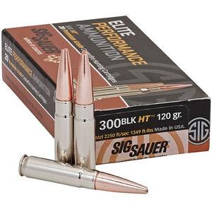 Sig Sauer Elite Hunting .300 Blackout Ammunition 20 Rounds 120 Grain SC OTM 2250 fps
