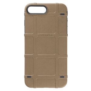 Magpul Bump Case Apple iPhone 7+/8+ Rigid Thermoplastic Outer Shell with Shock Absorbing Inner Layer/PMAG Style Ribs Flat Dark Earth