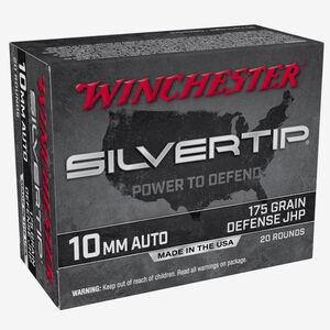 Winchester Silvertip 10mm Auto Ammunition 200 Rounds JHP 175 Grains W10MMST