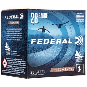 "Federal Speed Shok Waterfowl Steel 28 Gauge Ammunition 2-3/4"" #6 Steel Shot 5/8 oz 1350 fps"