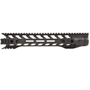 "Fortis Manufacturing Night Rail AR-15 556MM Free Float Rail System 12"" M-LOK Aluminum Anodized Black"