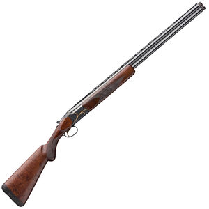 "Browning Citori Gran Lightning 28 Gauge O/U Break Action Shotgun 28"" Barrels 2-3/4"" Chamber 2 Rounds Walnut Stock Blued Finish with Gold Engravings"