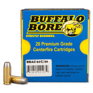 Buffalo Bore 10mm Auto Ammunition 20 Rounds HCFN 220 Grains 21C/20