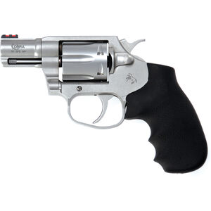 "Colt Cobra .38 Special +P Double Action Revolver 2"" Barrel 6 Round Cylinder Fiber Optic Front Sight Trench Rear Hogue Grip Matte Stainless Steel Finish"