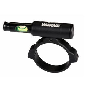 Warne Universal Scope Level Anti-Cant Scope Leveling Device 30mm Tube Compatible Green Bubble Level Matte Black Finish