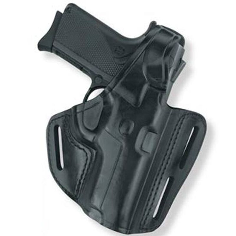 Gould & Goodrich Gold Line S&W M&P 9/40/357 Full Size Three Slot Pancake Holster Right Hand Leather Black B803-MP