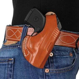 DeSantis Maverick S&W Bodyguard 380 with Built in Crimson Trace Laser Belt Holster Right Hand Leather Tan 012TAU7Z0