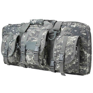 "NcSTAR AR15 and AK Deluxe Carbine Pistol Case 28""x12"" 3 Exterior Pockets Padded Divider PVC Digital Camo"