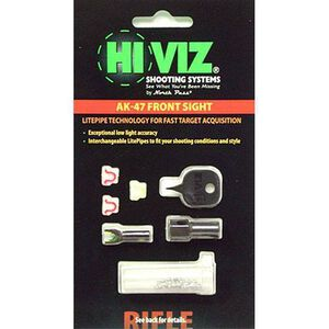 HiViz AK-47 Front Sight Red and Green LitePipes AK2010