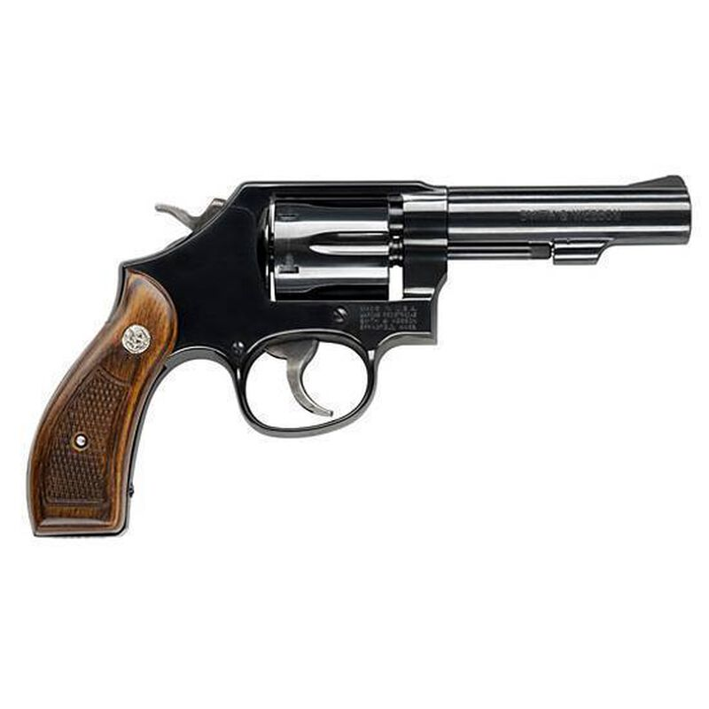 "S&W Model 10 Classic Revolver .38 Special +P 4"" Barrel 6 Rounds Checkered Wood Grips Carbon Steel Frame Blue Finish 150786"