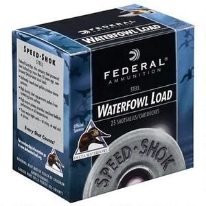 "Federal Speed-Shok 12 Ga 3"" T Steel 1.125oz 250 Rounds"