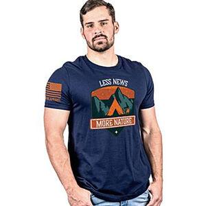 Nine Line More Nature, Less News Men's Cotton T Shirt
